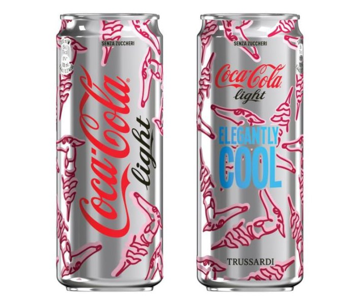 Trussardi Coca Cola Limited Edition Bottles Cans