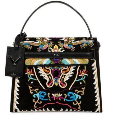 Valentino My Rockstud Embroidered Flap Bag