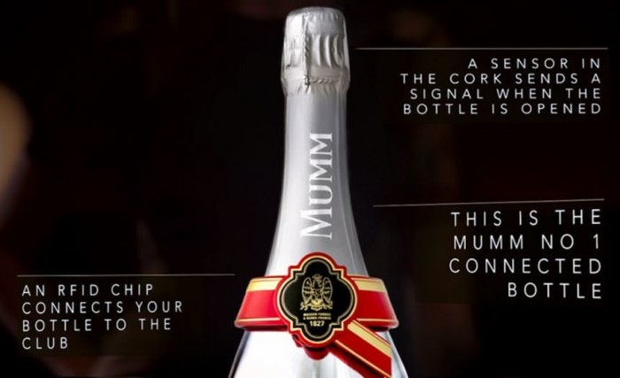 GH Mumm Connected Champagne Bottle