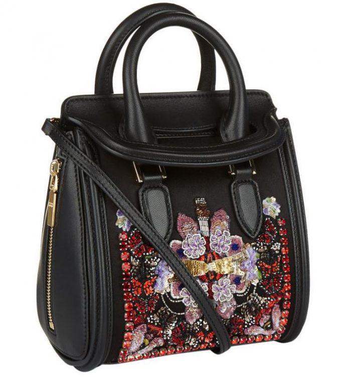 Alexander McQueen Mini Heroine Silk Embellished Bag