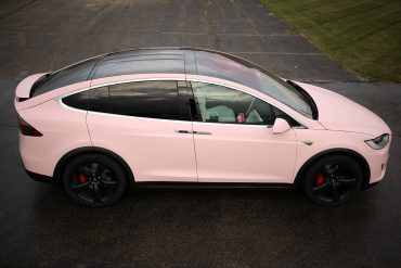 Verity Bubblegum Pink Tesla Model X P90D