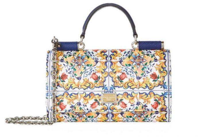 Dolce & Gabbana - Majolica Print Phone Bag