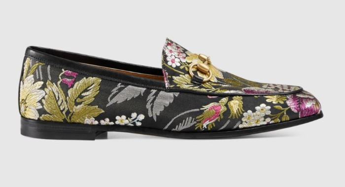 Gucci Jordaan graphic jacquard loafer