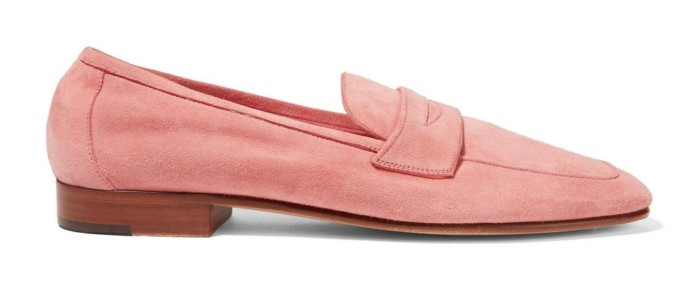 Mansur Gavril Classic Suede Loafer