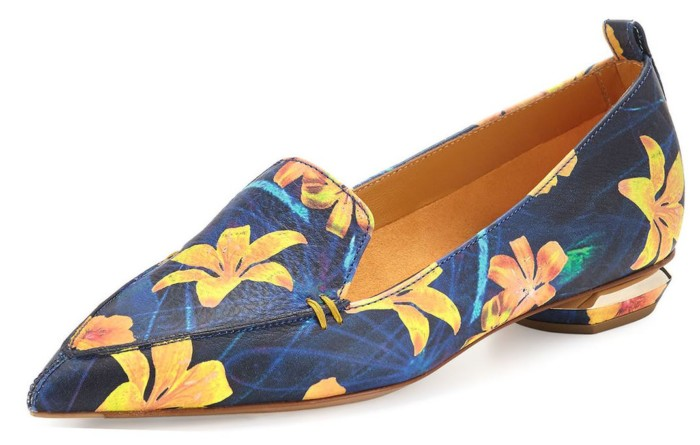 Nicholas Kirkwood - Beya Floral Pointed-Toe Loafer