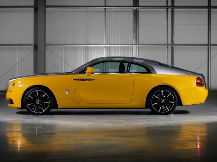 Yellow Rolls Royce