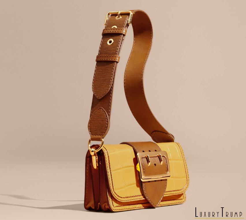 Burberry Small Buckle Bag in Alligator and Leather