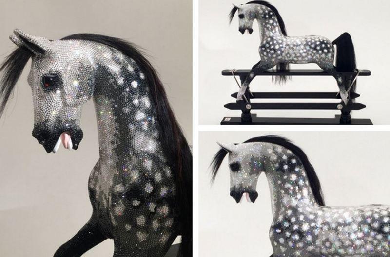 Crystal Rocking Horse