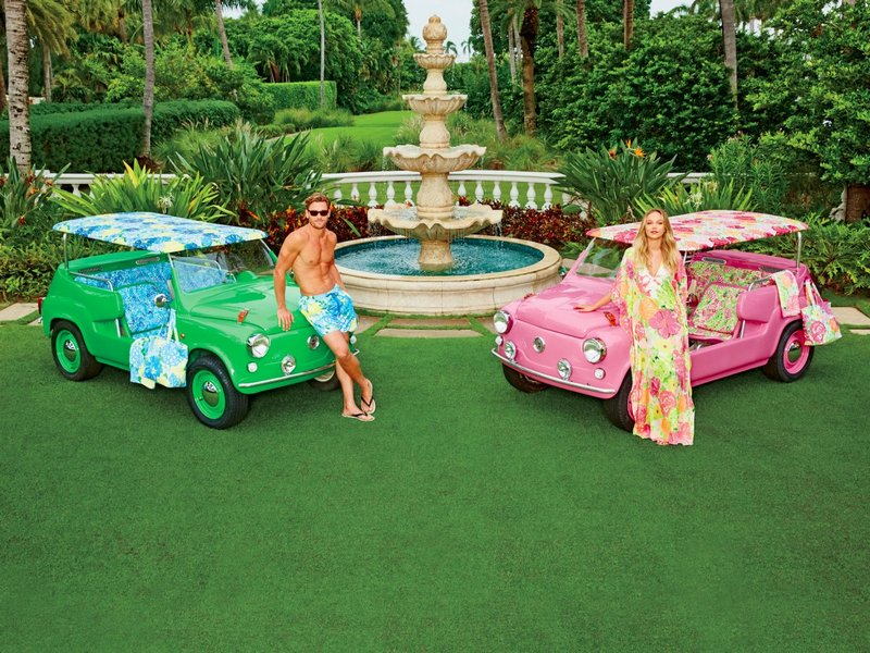 His & Hers Neiman Marcus Island Cars Featuring Lilly Pulitzer