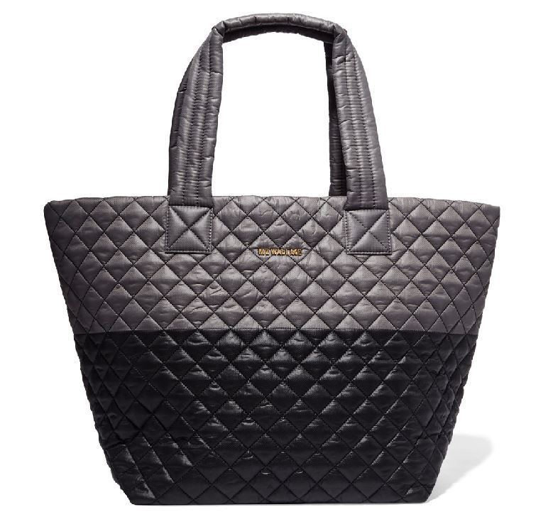 MZ Wallace Metro Two Tone Quilted Shell Tote