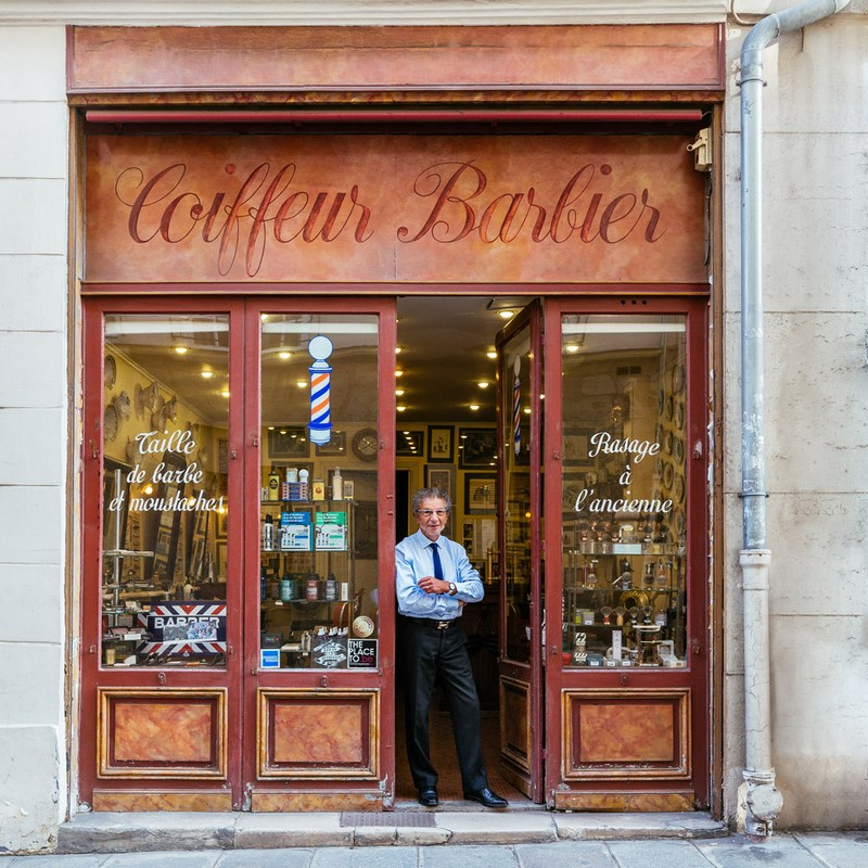 Paris Shop Signs - Alain Maître Barbier