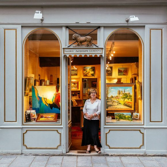 Paris Shop Signs - Galerie D'Art Jacqueline Lemoine