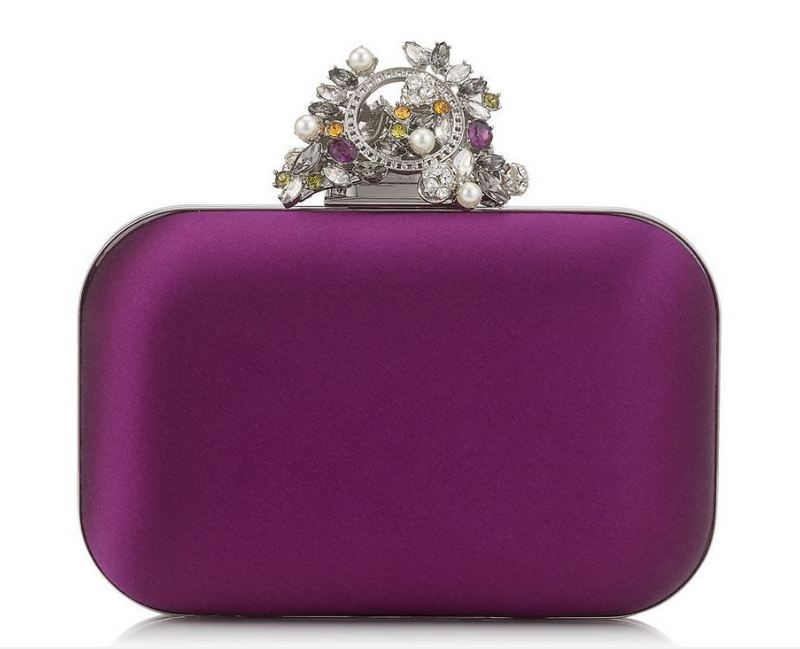 Jimmy Choo Madeline Satin Box Clutch Bag