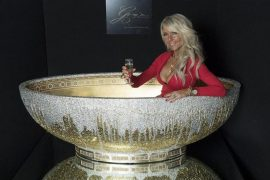 Gold Crystal Bathtub