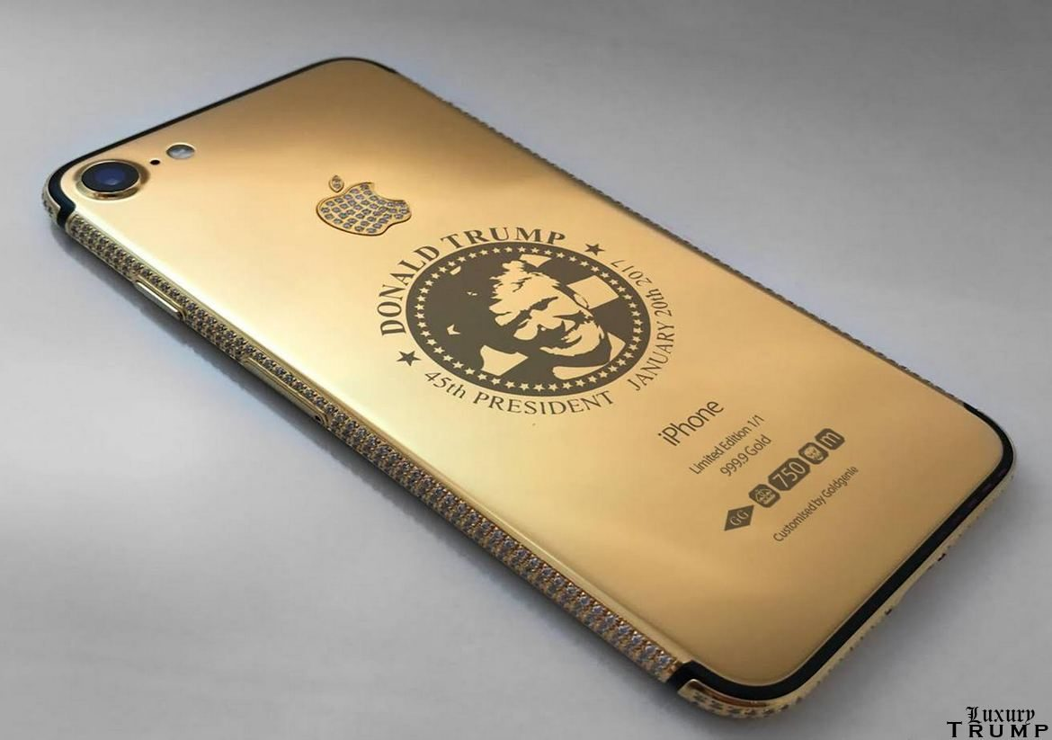 Goldgenie Donald Trump iPhone7