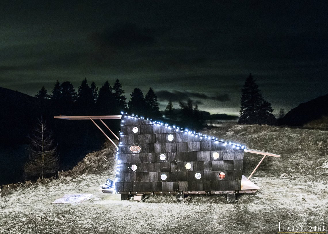 Land Rover Christmas Cabin