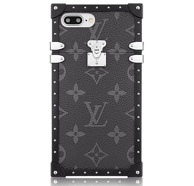 Louis Vuitton Eye-Trunk Monogram Eclipse iPhone 7 Plus Case