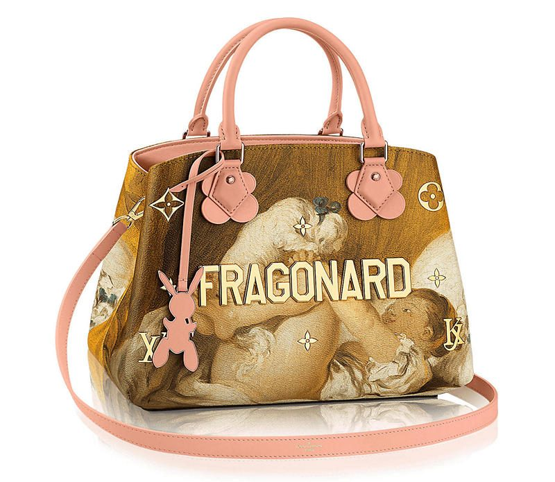 Masters LV x Koons Fragonard Young Girl Playing With Dog Montaigne MM
