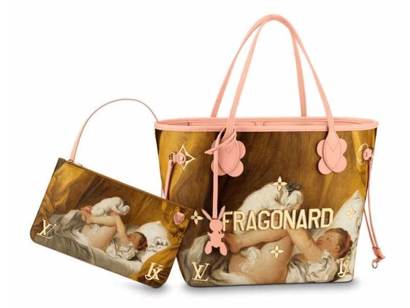 Masters LV x Koons Fragonard Young Girl Playing With Dog Neverfull MM