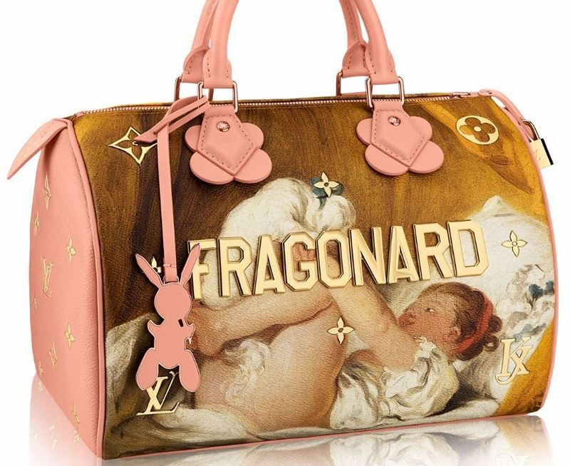 Masters LV x Koons Fragonard Young Girl Playing With Dog Speedy 30