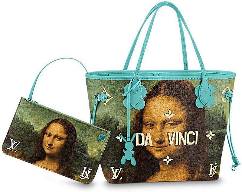 Masters LV x Koons Mona Lisa Neverfull MM