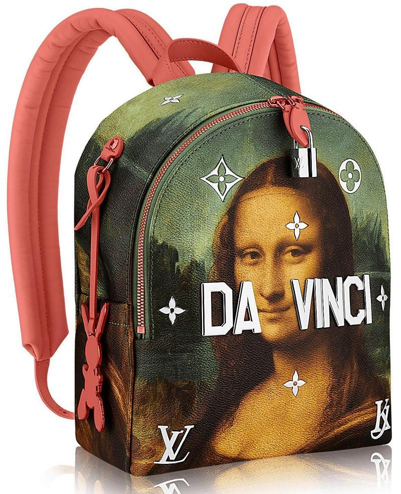 Masters LV x Koons Mona Lisa Palm Springs Backpack