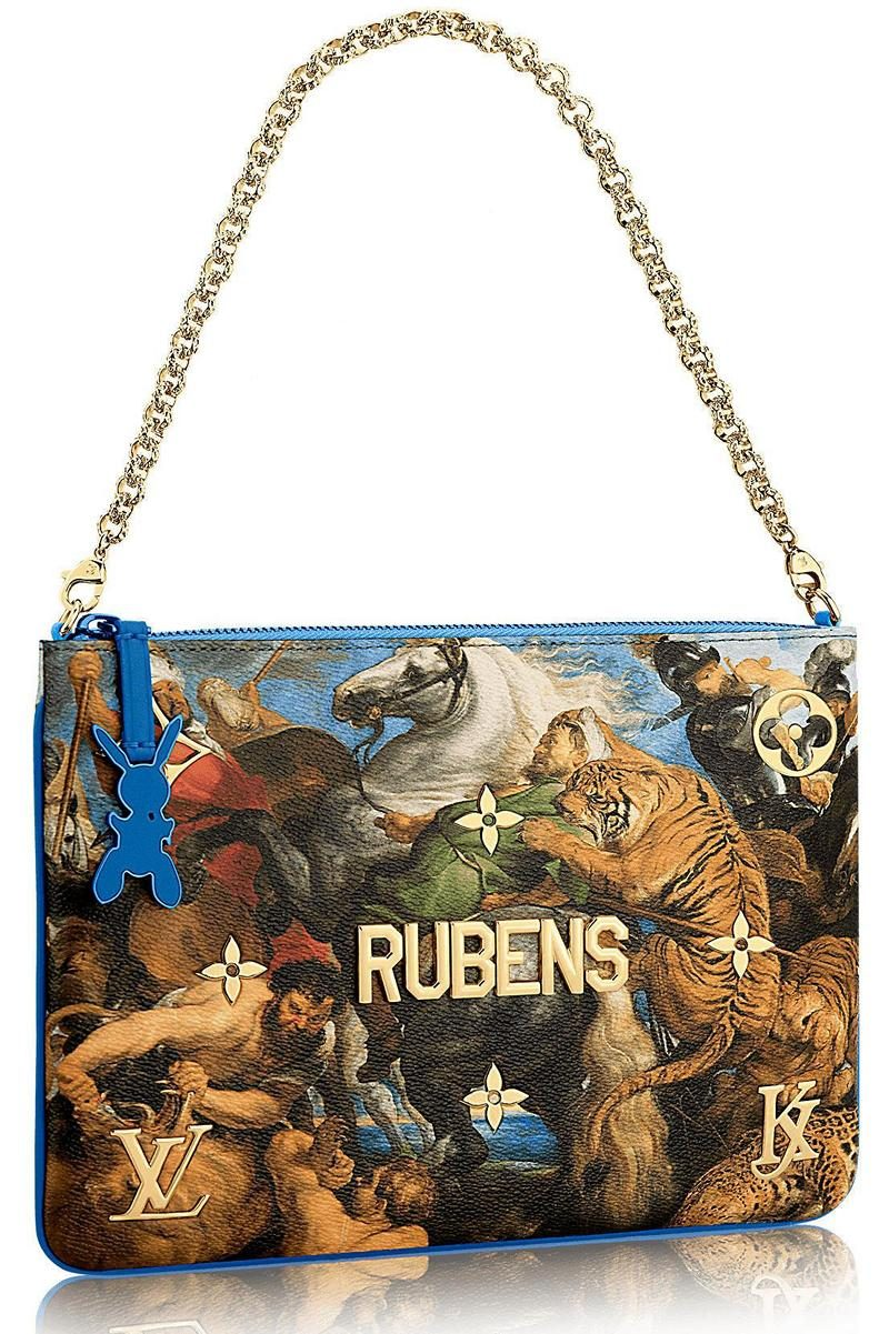 Masters LV x Koons The Tiger Hunt By Rubens Clutch