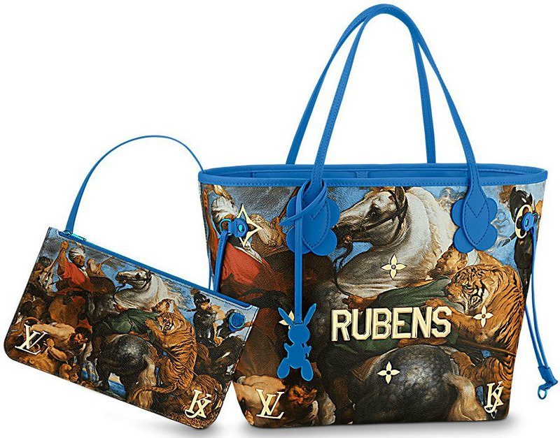 Masters LV x Koons The Tiger Hunt By Rubens Neverfull MM