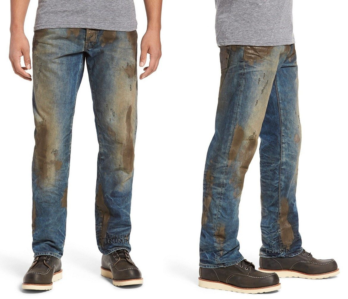 Nordstrom Muddy Distressed Jeans