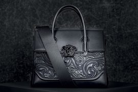 Versace Baroque Embroidered Palazzo Empire Handbag