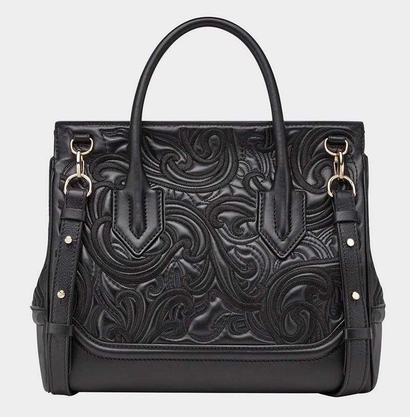 Versace Baroque Embroidered Palazzo Empire Handbag
