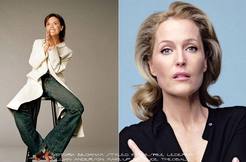 Victoria Beckham and Gillian Anderson