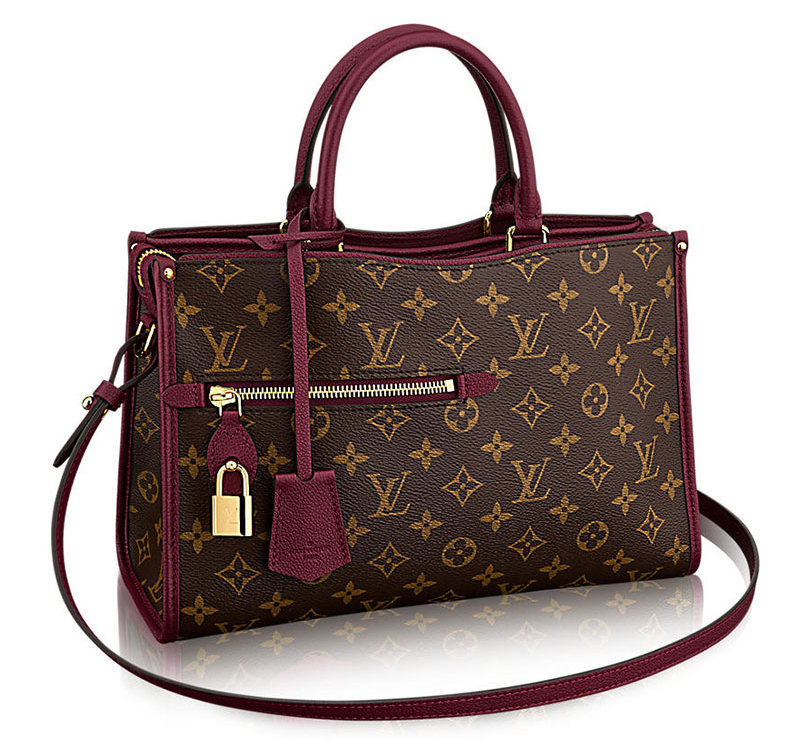Louis Vuitton Popincourt Tote Burgandy PM