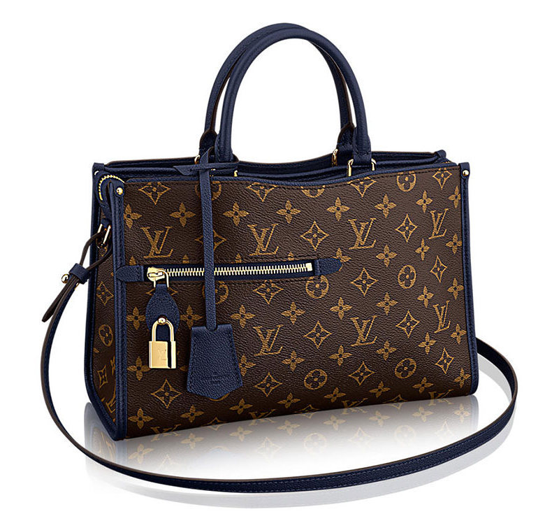 Louis Vuitton Popincourt Tote Navy PM