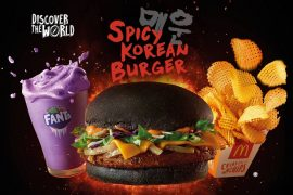 McDonald's Charcoal Spicy Korean Burger