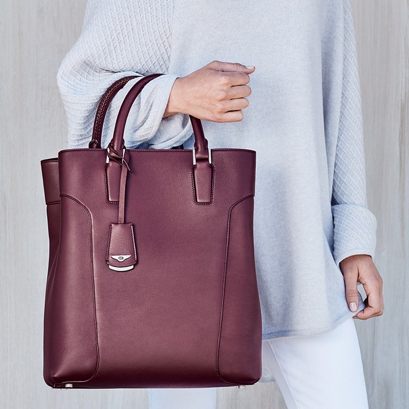 Bentley Iconic Classics - Mary P Tote - Rich Plum
