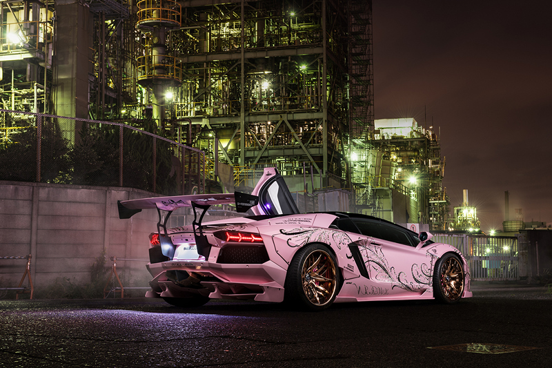 Seen In Japan A Pink Lamborghini Aventador With Floral Motifs Lux