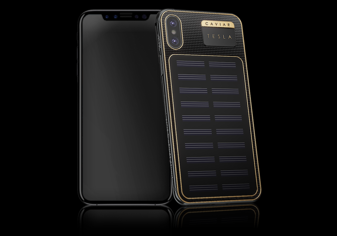 Caviar iPhone X Tesla