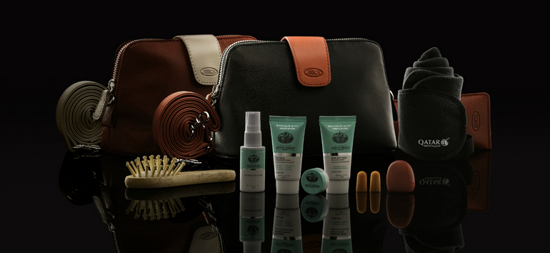 Qatar Aiways New First and Business Class Amenity Kits