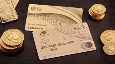 Raris Royal Mint 18 karat Payment Card