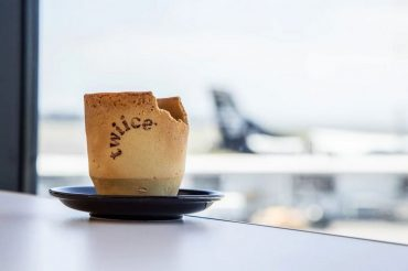 Air New Zealand Edible Coffee Cup