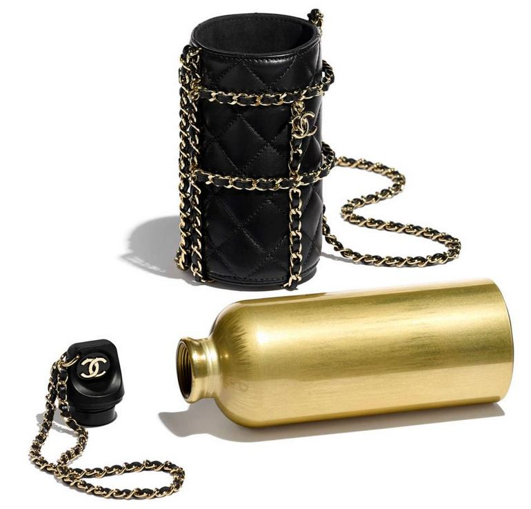 Chanel Gold-Colored Water Bottle