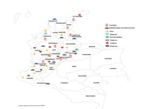 inversiones mineras en Colombia