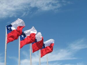 Banderas Chilenas izadas