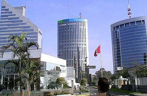 Economic district of Lima, where most people get a business visa in Peru