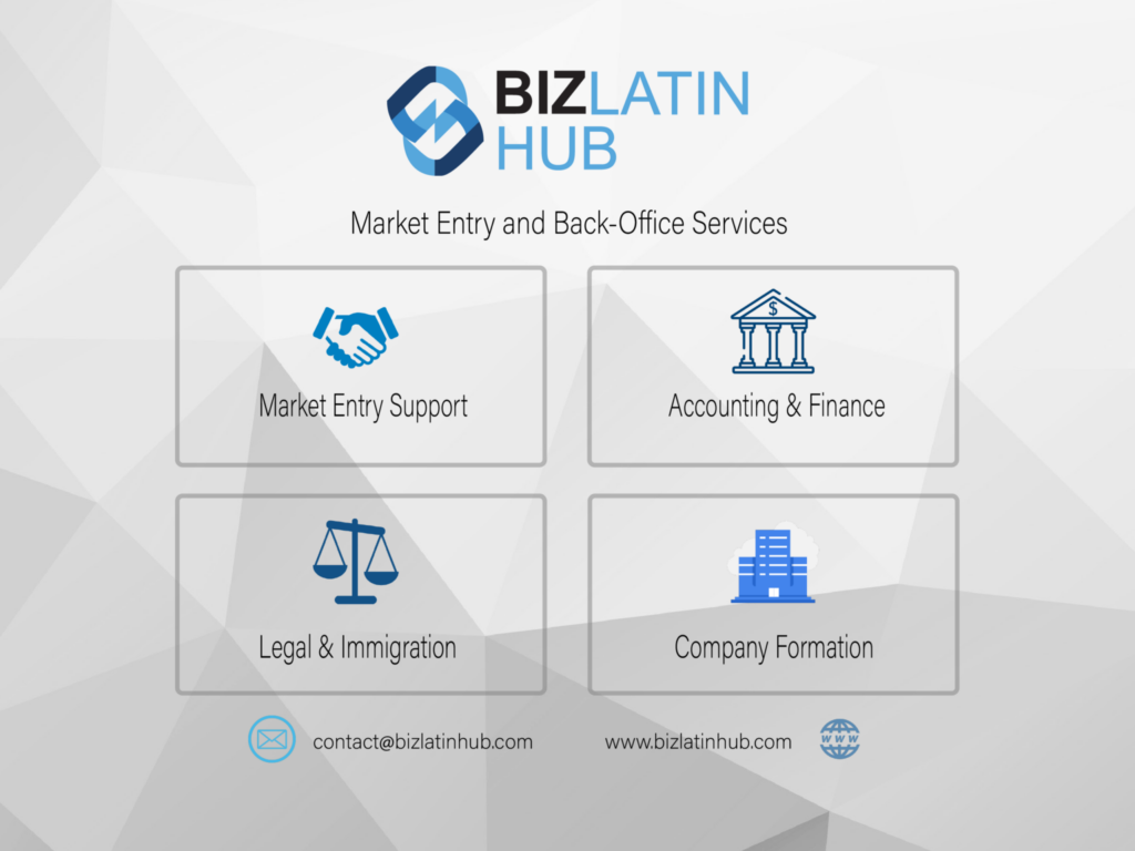 biz latin hub's market entry and back-office services