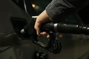 car filling gasoline tank in Bolivia