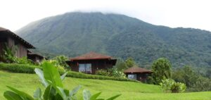 Huts on land in Costa Rica