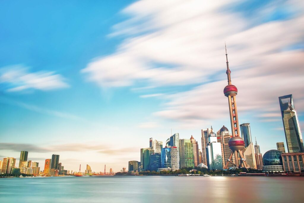 Shanghai buildings evidence financial strength of the Chinese trading potential