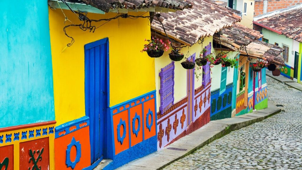Colombian colorful houses
